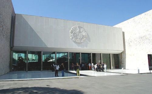 Entrada del Museo Nacional de Antropología
