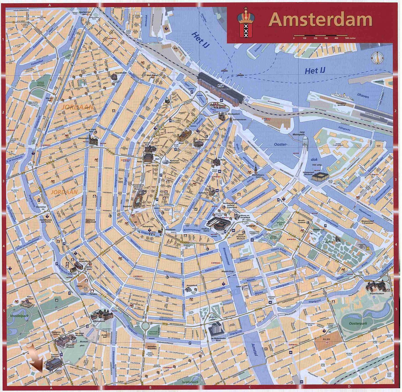 Mapa de Amsterdam ...
