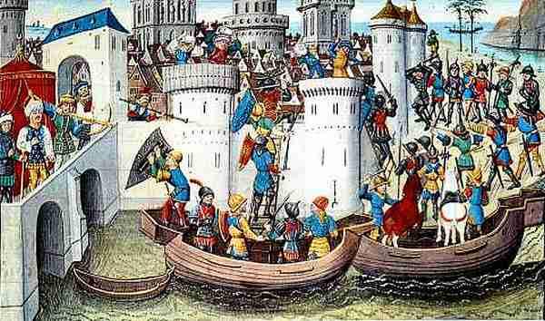 Conquista de Constantinopla por los cruzados
