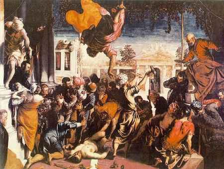San Marcos liberando al esclavo por Tintoretto