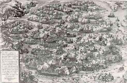 La batalla de Lepanto según Martin Rota
