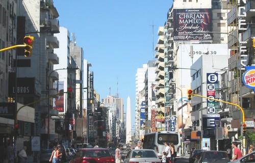 La animada Calle Corrientes