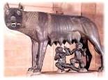 La loba amamantando a Rómulo y Remo