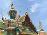 Guardia en el Wat Phra Kaeo - Bangkok